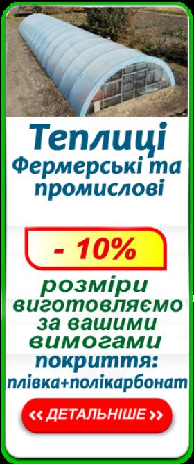 Теплиці фермерські та промислові від 500 грн/м.кв